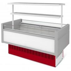 Витрина холодильная ВХНо - 2,4 с надстройкой